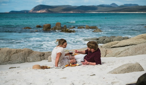Picnicing on the beach